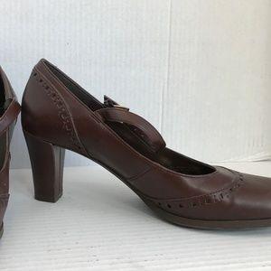 "Size 6 Etienne Aigner Brown 2.5"" Mary Jane Heels"
